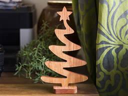 Business wood souvenirs from solid alder and oak