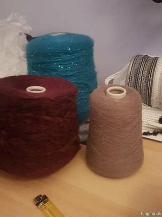 Textiles and yarn made in italy . stock